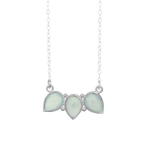 Seafoam Green Gemstone Necklace