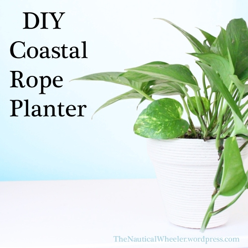 DIY Coastal Rope Planter